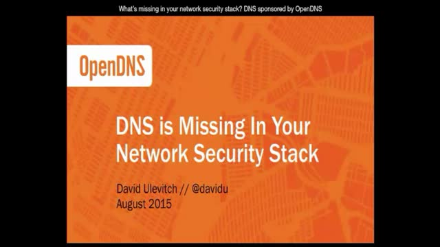 What's missing in your network security stack? DNS