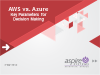 AWS vs Azure: Key parameters for decision making