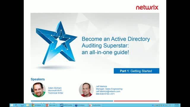 Become an Active Directory Auditing Superstar: Getting Started
