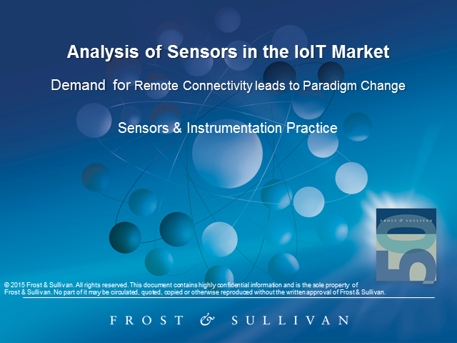Analysis of Sensors in the IoIT Market