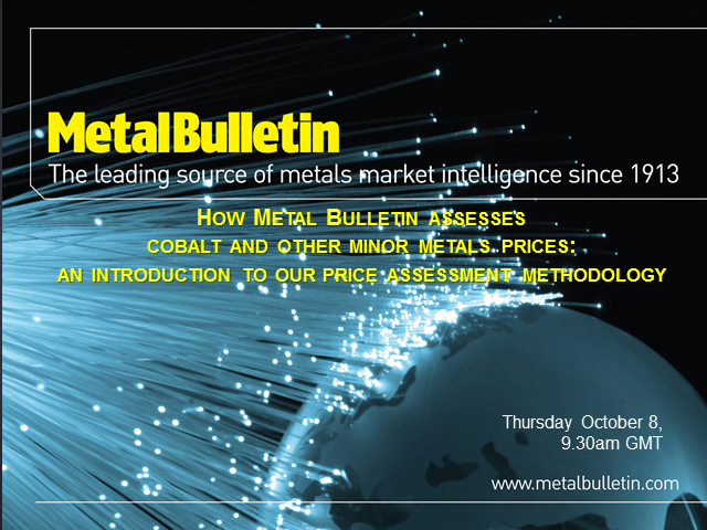 How Metal Bulletin assesses cobalt and other minor metals prices