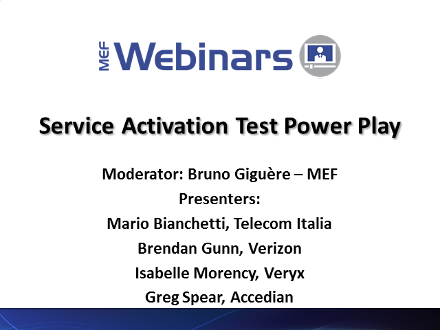 Service Activation Testing Power Play