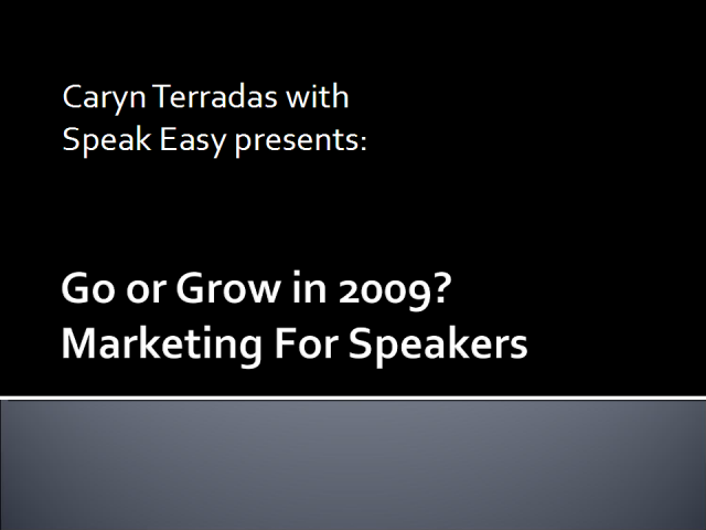 Marketing for Speakers webinar