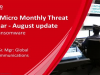Monthly Threat Webinar - August update