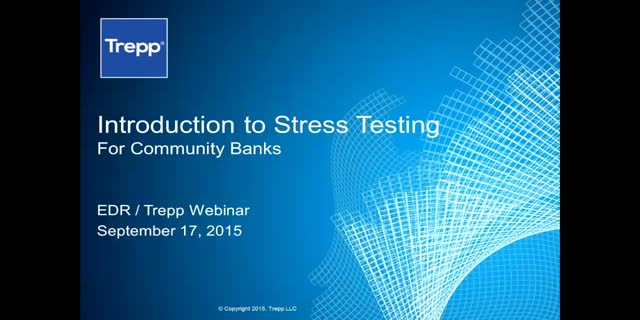 Stress Testing 101 – Best Practices for the Community Banker
