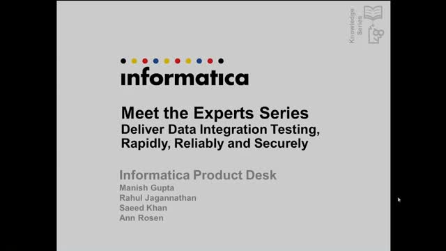 Meet the Experts: Deliver Data Integration Testing Rapidly, Reliably & Securely