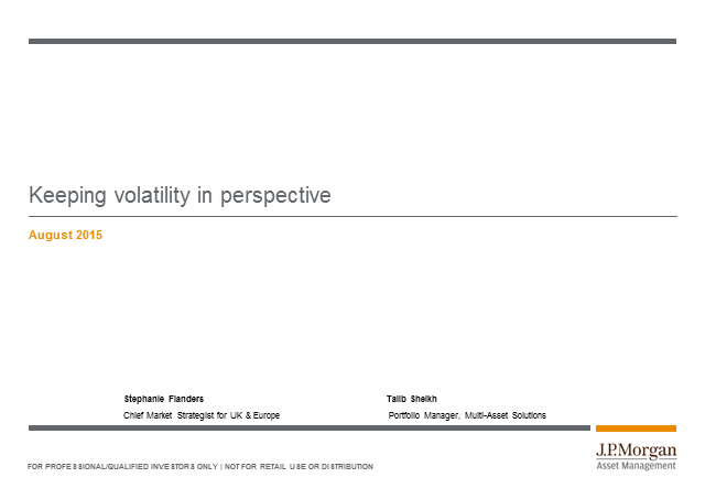 Keeping volatility in perspective