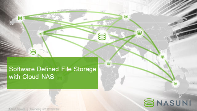 Software Defined File Storage with Cloud NAS