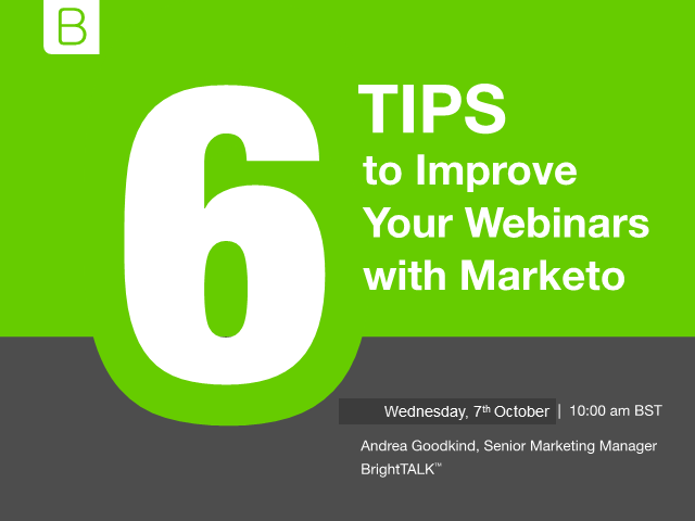 6 Tips to Improve Your Webinars with Marketo - EMEA Edition