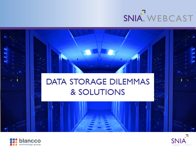 Data Storage Dilemmas and Solutions