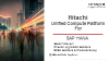 HITACHI UNIFIED COMPUTE PLATFORM SOLUTIONS FOR SAP HANA