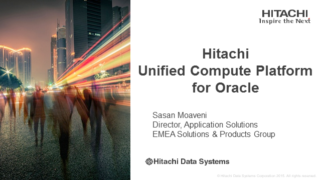 HITACHI UNIFIED COMPUTE PLATFORM FOR ORACLE DATABASE