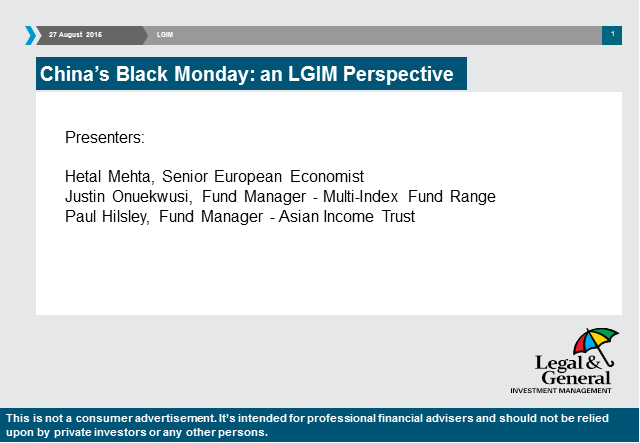 China's Black Monday: an LGIM perspective