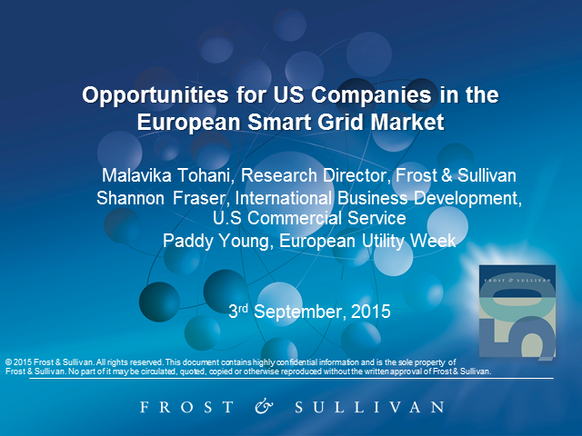 Opportunities for US Companies in the European Smart Grid Market