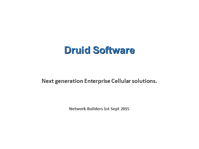 Next generation Enterprise Cellular solutions