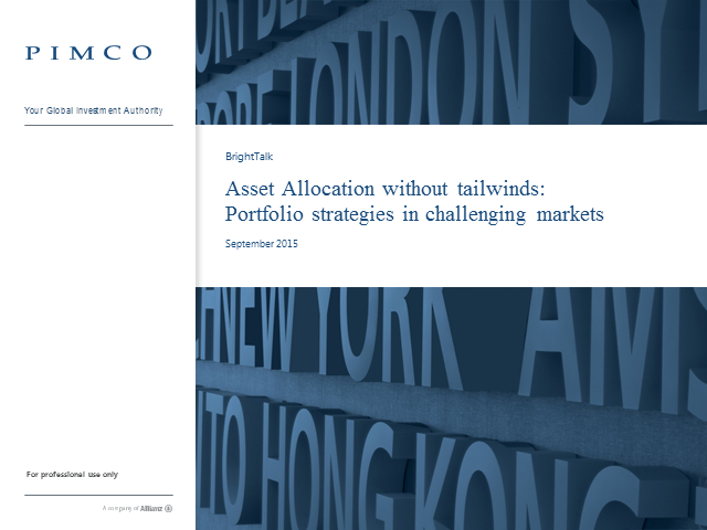 Asset Allocation without tailwinds: Portfolio strategies in challenging markets