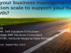 Can your business management solution scale to support future growth?