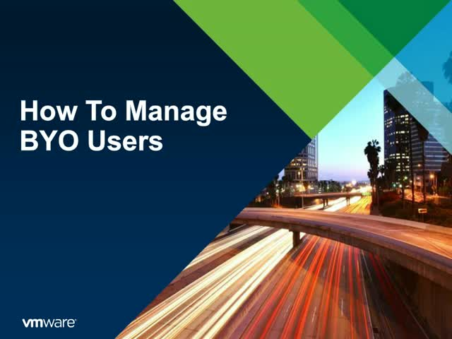 How to manage BYO users