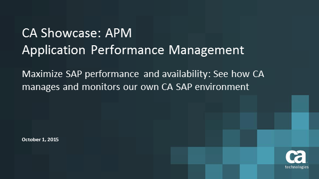Maximize SAP performance and availability