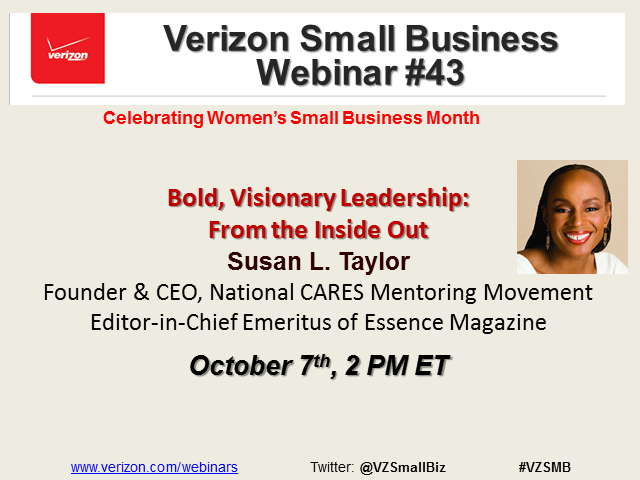 Women's Small Business Month with Susan L Taylor