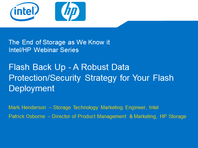 Flash Back Up - A Robust Data Protection/Security Strategy for Your Flash