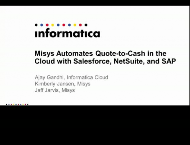 Misys automates Quote-to-Cash in the Cloud with NetSuite, Salesforce and Informa