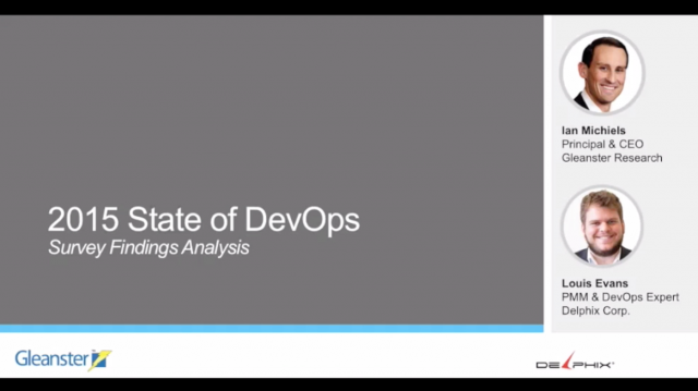 The State of DevOps: 2015