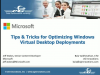 Tips & Tricks for Optimizing Windows Virtual Desktop Deployments