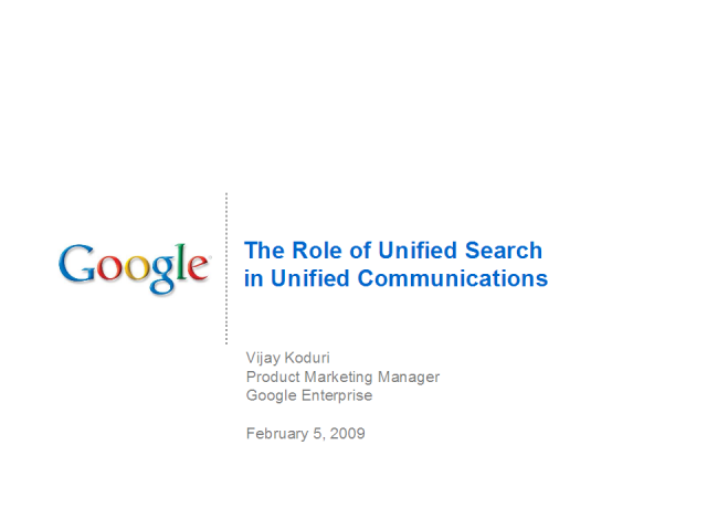 The Role of Unified Search in Unified Communications