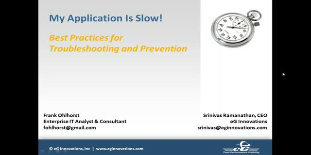 My Application is Slow | Best Practices for Troubleshooting and Prevention