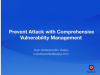 Prevent attack with comprehensive vulnerability management
