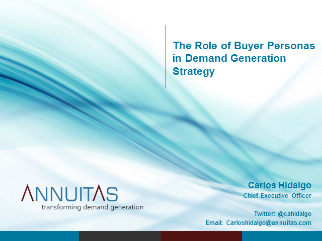 The Role of Buyer Personas in Demand Generation Strategy