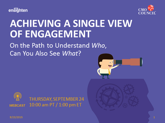 Achieving a Single View of Engagement