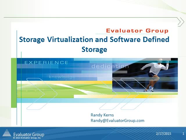 Storage Virtualization and Software Defined Storage