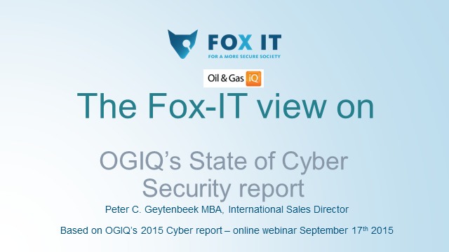 The Fox-IT view on OGIQ's State of Cyber Security report