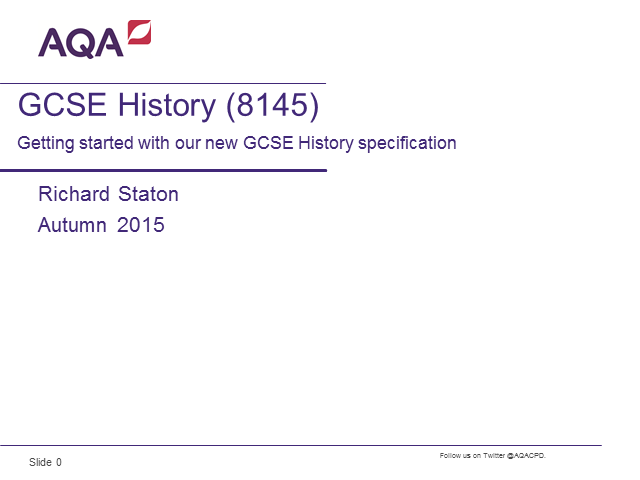 Getting started with our new GCSE History specification