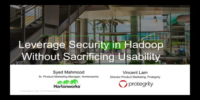 Leverage Security in Hadoop Without Sacrificing Usability