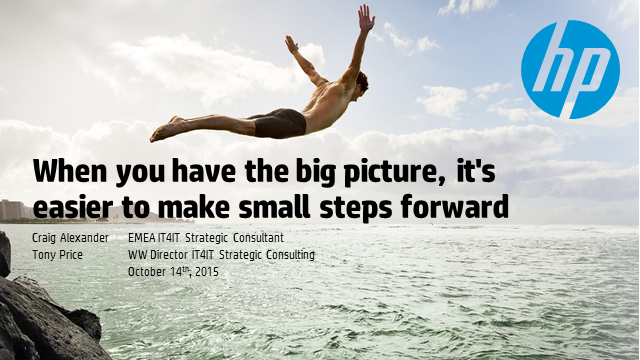 When you have the big picture, it's easier to make small steps forward
