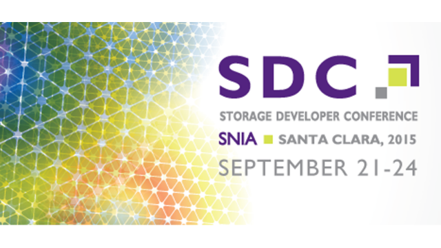 Storage Developer Conference 2015: Introductory Announcements