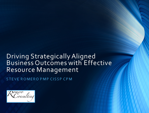 Driving Strategically Aligned Business Outcomes w/Resource Mgt 1 PDU