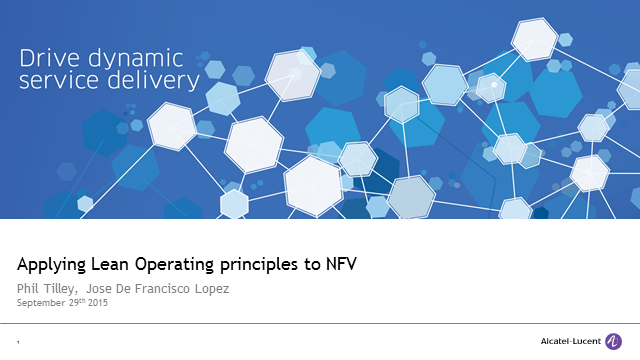 Applying Lean operational principles to NFV