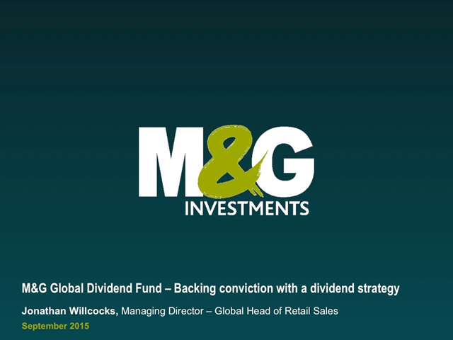 M&G Global Dividend Fund Webcast: Backing conviction with a dividend strategy