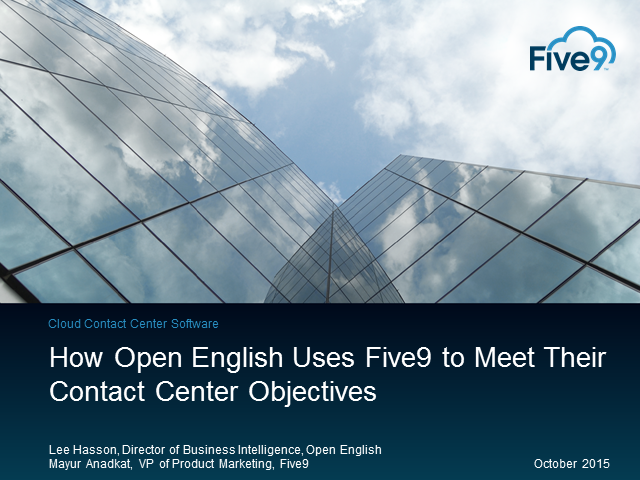How Open English Uses Five9 to Meet Their Call Center Objectives