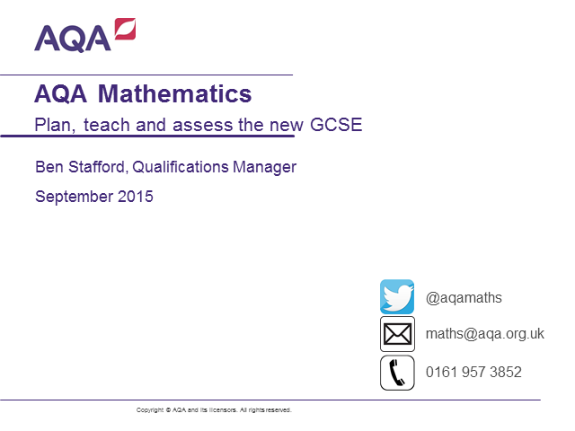 Plan, teach and assess the new Maths GCSE