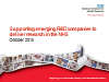 Supporting emerging R&D companies to deliver research in the NHS