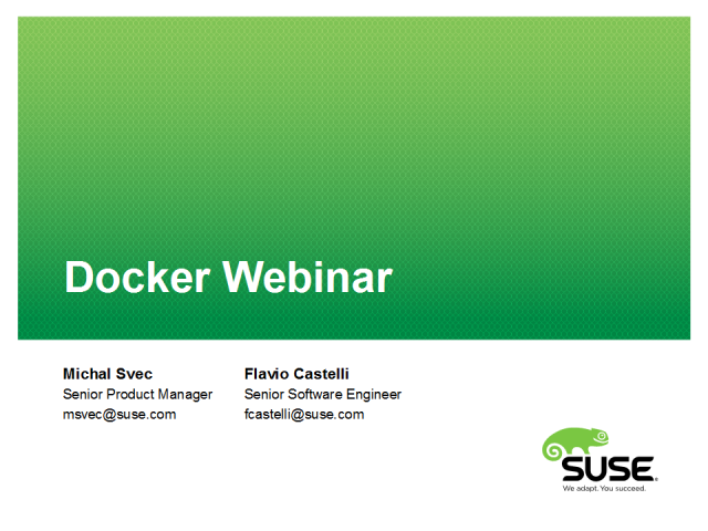 Docker in SUSE Linux Enterprise Server