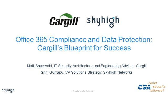office 365 compliance and data protection  cargill u2019s