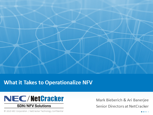 Modernizing the BSS/OSS for SDN & NFV