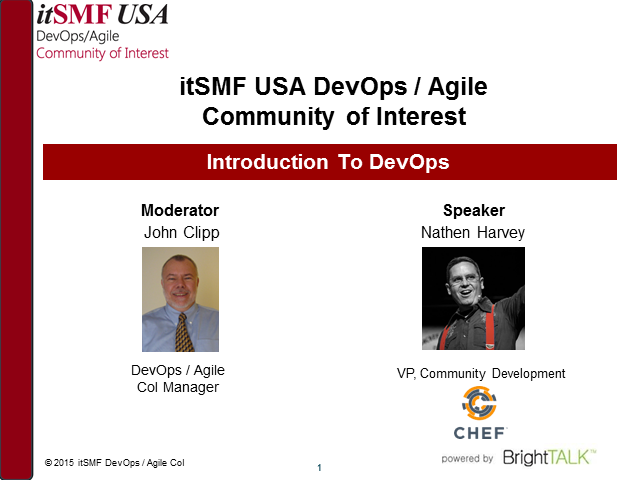 itSMF USA DevOps/Agile CoI - Introduction to DevOps