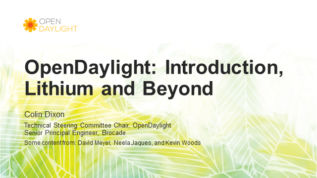 OpenDaylight: Delivering SDN Innovation Through Open Community